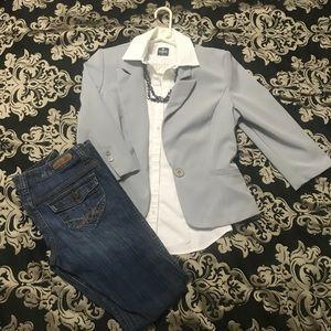 Jackets & Blazers - Light Gray Blazer